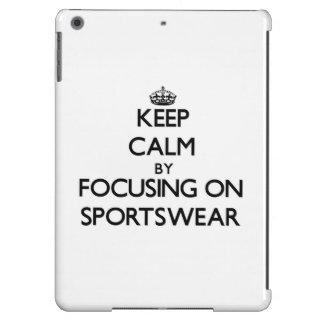 Keep Calm by focusing on Sportswear iPad Air Case
