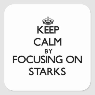 Keep Calm by focusing on Starks Square Sticker