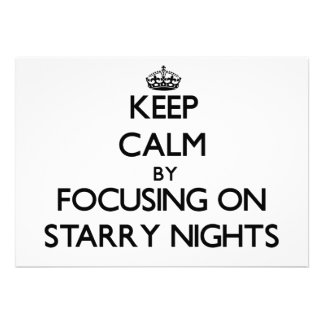 Keep Calm by focusing on Starry Nights Invite