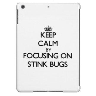 Keep Calm by focusing on Stink Bugs iPad Air Case