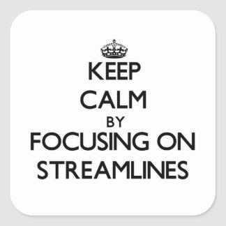 Keep Calm by focusing on Streamlines Stickers