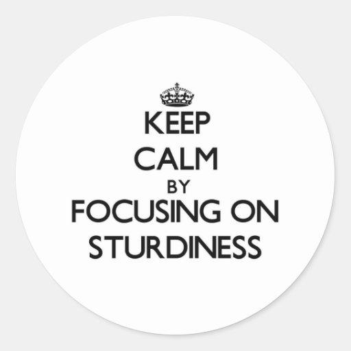 Keep Calm by focusing on Sturdiness Sticker