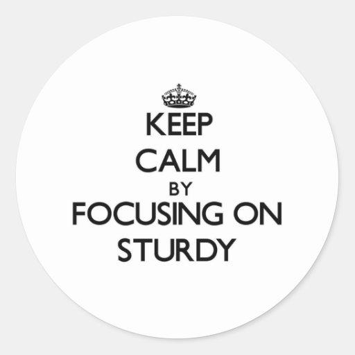 Keep Calm by focusing on Sturdy Sticker