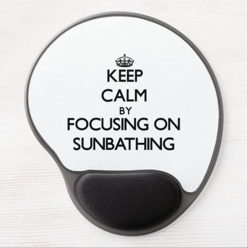 Keep Calm by focusing on Sunbathing Gel Mouse Pads
