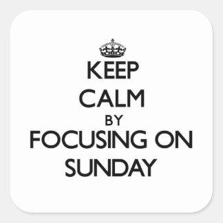 Keep Calm by focusing on Sunday Sticker
