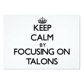 Keep Calm by focusing on Talons 13 Cm X 18 Cm Invitation Card