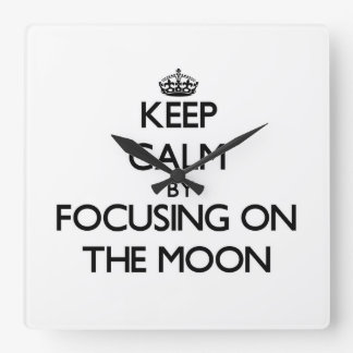 Keep Calm by focusing on The Moon Wall Clocks
