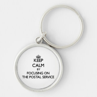 Keep Calm by focusing on The Postal Service Keychains