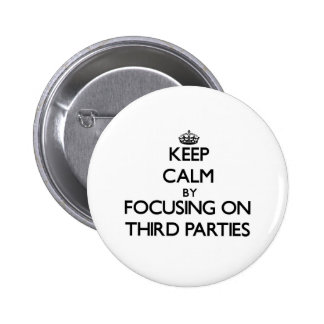 Keep Calm by focusing on Third Parties Pinback Button