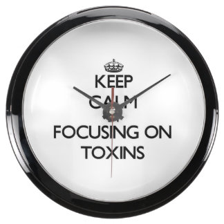 Keep Calm by focusing on Toxins Aquarium Clocks