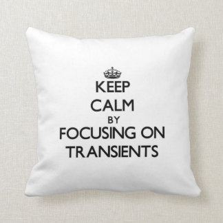Keep Calm by focusing on Transients Throw Pillow