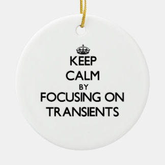 Keep Calm by focusing on Transients Christmas Tree Ornaments
