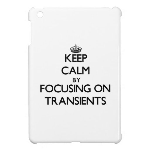 Keep Calm by focusing on Transients Cover For The iPad Mini