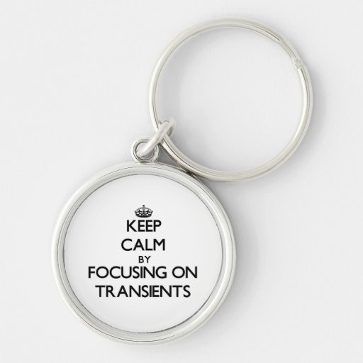 Keep Calm by focusing on Transients Keychains
