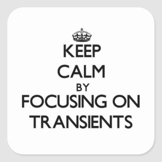 Keep Calm by focusing on Transients Square Sticker
