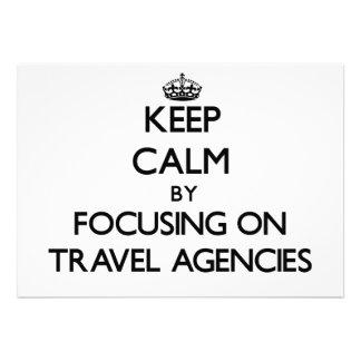 Keep Calm by focusing on Travel Agencies Card