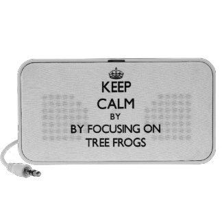 Keep calm by focusing on Tree Frogs iPod Speakers