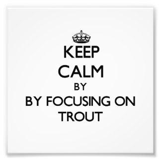 Keep calm by focusing on Trout Photograph