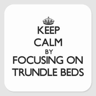Keep Calm by focusing on Trundle Beds Stickers