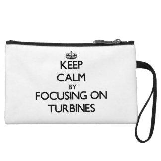Keep Calm by focusing on Turbines Wristlet Purse