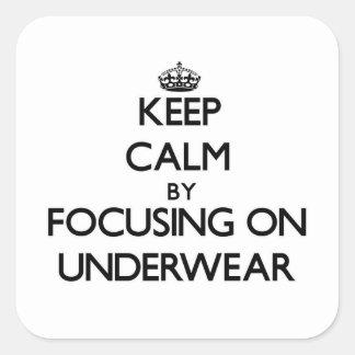 Keep Calm by focusing on Underwear Stickers