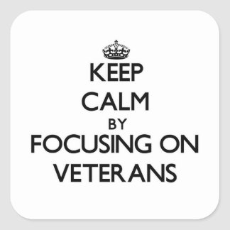 Keep Calm by focusing on Veterans Stickers