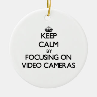 Keep Calm by focusing on Video Cameras Christmas Ornament