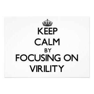 Keep Calm by focusing on Virility Custom Invites