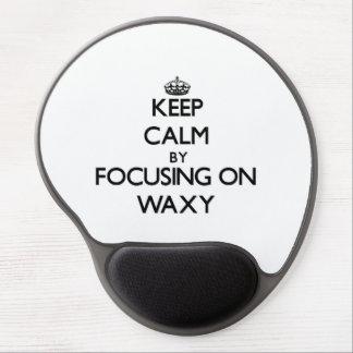 Keep Calm by focusing on Waxy Gel Mousepad