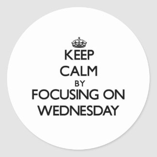 Keep Calm by focusing on Wednesday Stickers