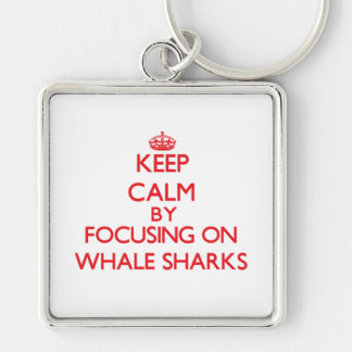 Keep calm by focusing on Whale Sharks Key Chain