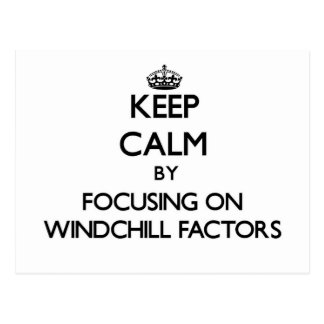 Keep Calm by focusing on Windchill Factors Post Card