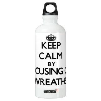 Keep Calm by focusing on Wreaths SIGG Traveller 0.6L Water Bottle