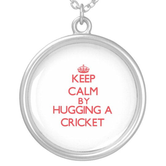 Keep calm by hugging a Cricket Silver Plated Necklace