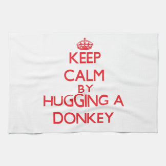 Keep calm by hugging a Donkey Tea Towel