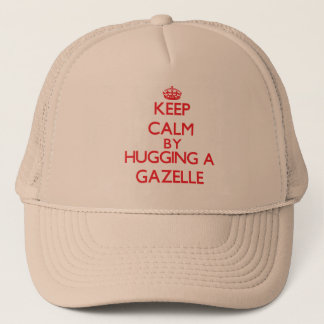 Keep calm by hugging a Gazelle Trucker Hat