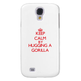 Keep calm by hugging a Gorilla Galaxy S4 Covers
