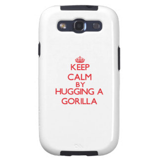 Keep calm by hugging a Gorilla Galaxy SIII Cover