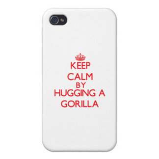 Keep calm by hugging a Gorilla iPhone 4 Cases