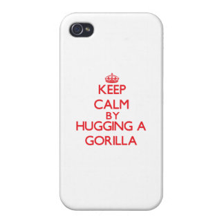 Keep calm by hugging a Gorilla iPhone 4 Covers
