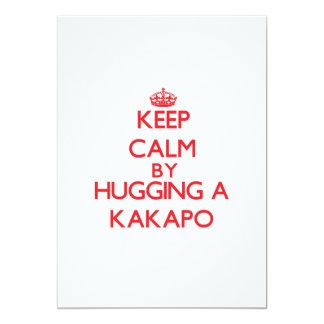 Keep calm by hugging a Kakapo 13 Cm X 18 Cm Invitation Card