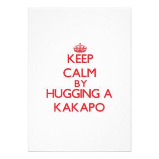 Keep calm by hugging a Kakapo Custom Invitation