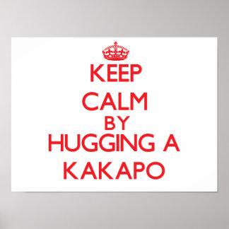 Keep calm by hugging a Kakapo Print