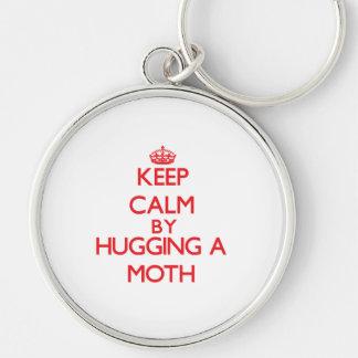 Keep calm by hugging a Moth Key Chains