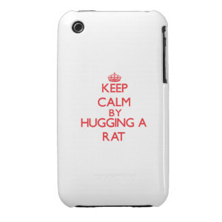 Keep calm by hugging a Rat Case-Mate iPhone 3 Cases