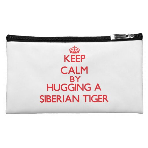 Keep calm by hugging a Siberian Tiger Cosmetic Bag