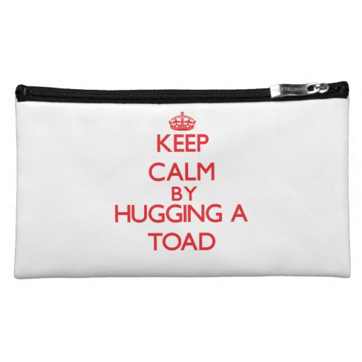 Keep calm by hugging a Toad Makeup Bags