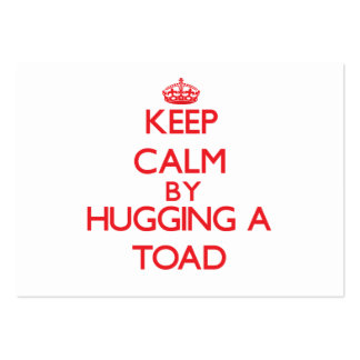 Keep calm by hugging a Toad Business Card