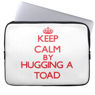 Keep calm by hugging a Toad Computer Sleeve