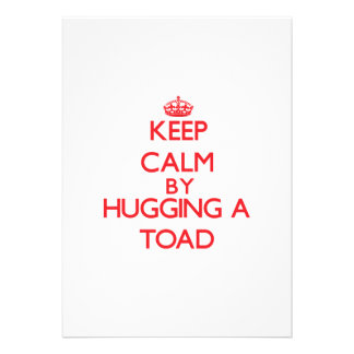 Keep calm by hugging a Toad Personalized Announcements